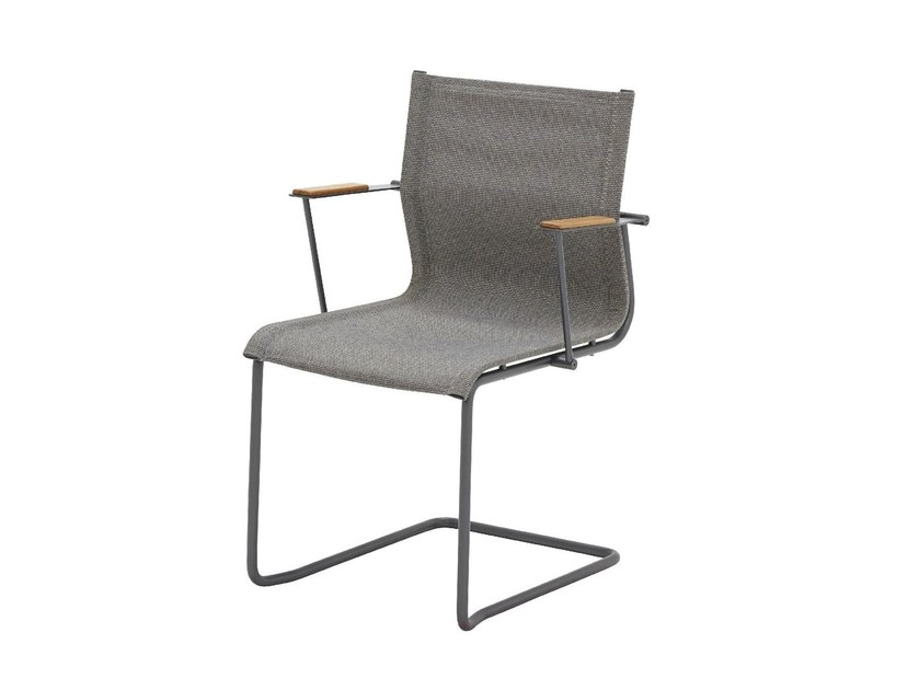 Cantilever garden chair with armrests SWAY | Chair with armrests by Gloster