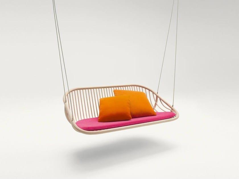 Wooden garden swing seat SWING - Paola Lenti