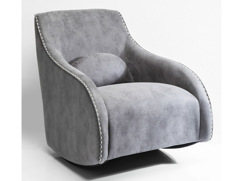 Rocking polyester armchair with armrests SWING RITMO VINTAGE - KARE-DESIGN