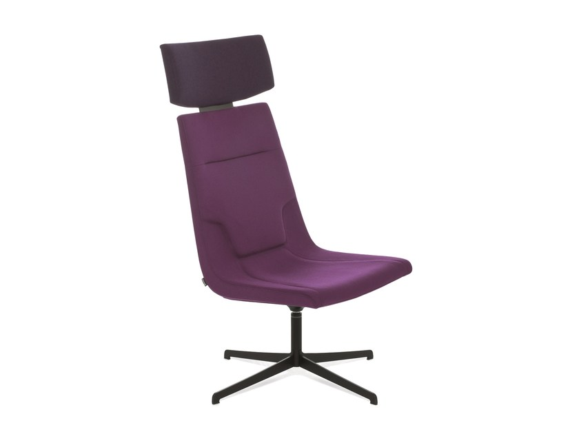 Swivel reception chair with 4-spoke base ELLE 65 | Swivel chair by Emmegi