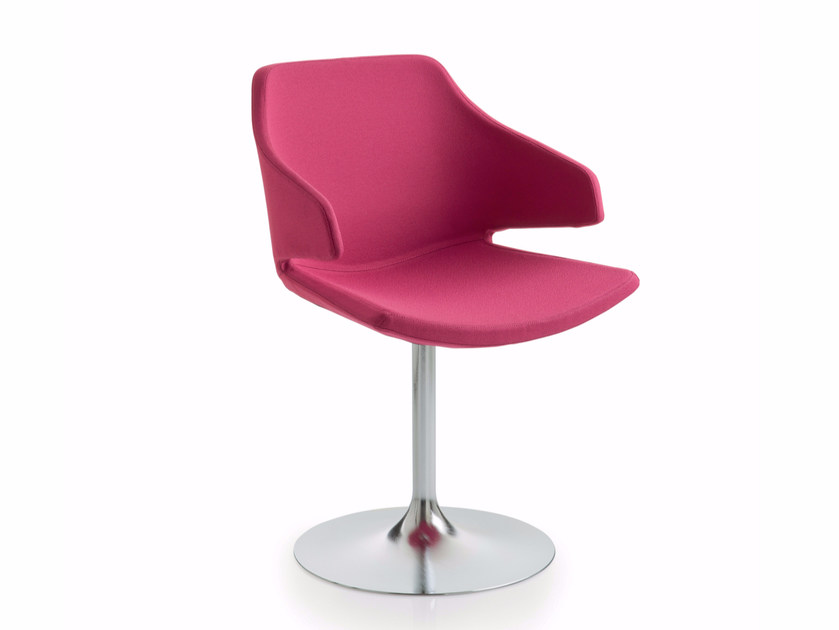 Swivel height-adjustable fabric chair with armrests MERAVIGLIA | Swivel chair - Luxy