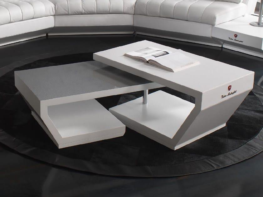 Low swivel leather coffee table VALENCIA | Swivel coffee table - Tonino Lamborghini Casa