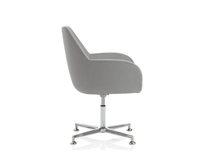 Swivel easy chair with 4-spoke base with armrests SKYLINE | Swivel easy chair - Emmegi