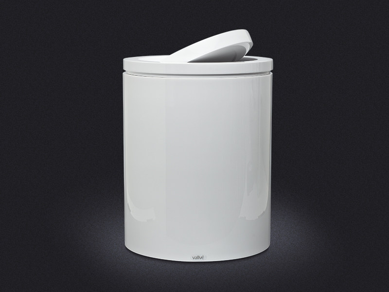 Resin laundry container SWIVEL LID | Laundry container - Vallvé Bathroom Boutique