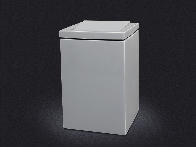 Portabiancheria in resina SWIVEL LID SQUARE | Portabiancheria in resina - Vallvé Bathroom Boutique