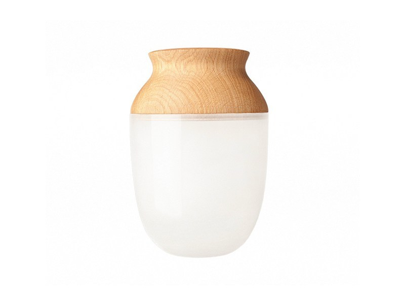 Wood and glass vase SYMBIOSIS - Nordic Tales
