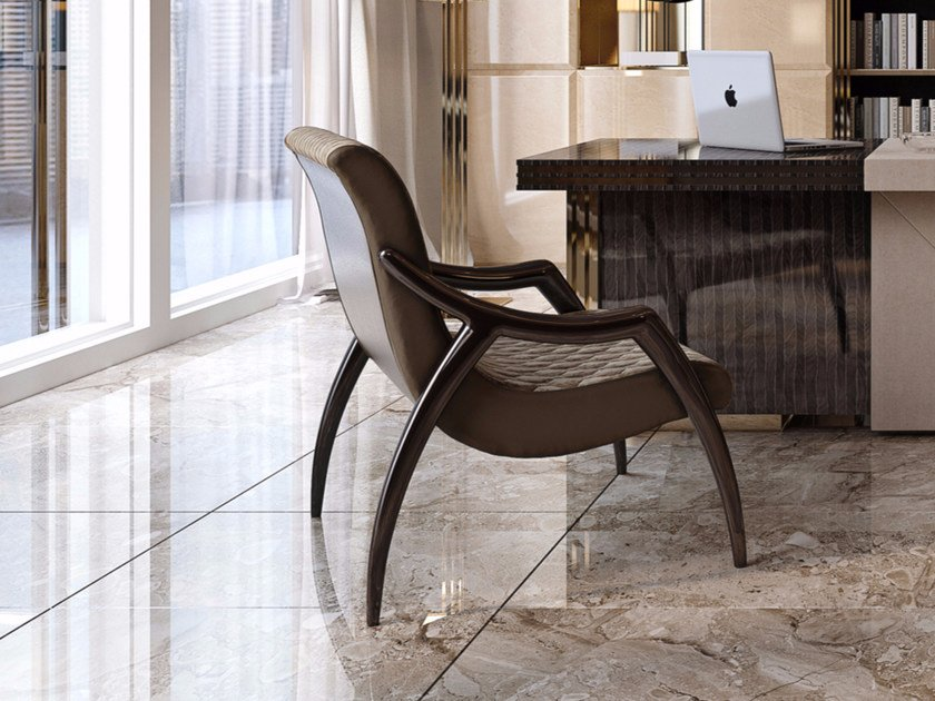 Tufted armchair with armrests SYMPHONY - INFINITY | Tufted armchair by Bizzotto