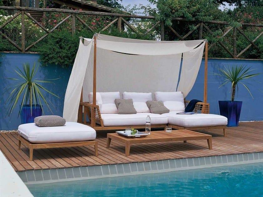 Canopy teak sofa SYNTHESIS | Canopy sofa by Unopiù