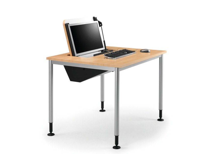 Height-adjustable office desk with cable management SYSTEM 789 by TALIN