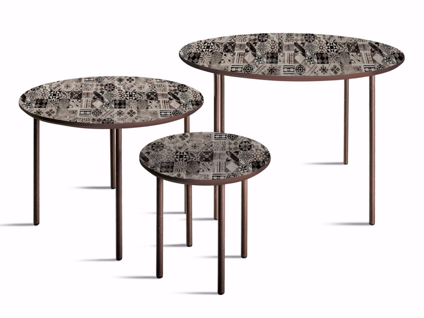 Round MDF coffee table T-32/52/72 - MOMENTI di Bagnai Matteo