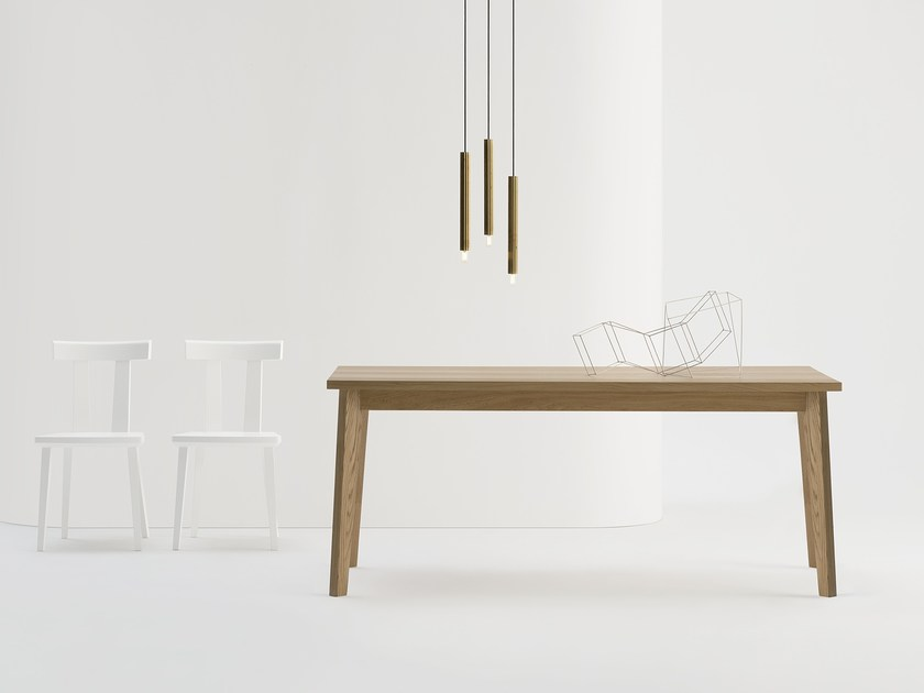 Rectangular solid wood table T COFFE by SIPA