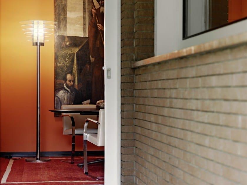 Tempered glass floor lamp T0024 - FontanaArte
