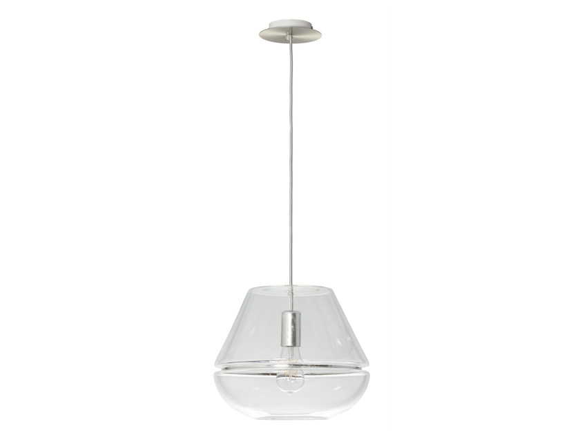 Glass pendant lamp T1 CHIC SILVER - Hind Rabii