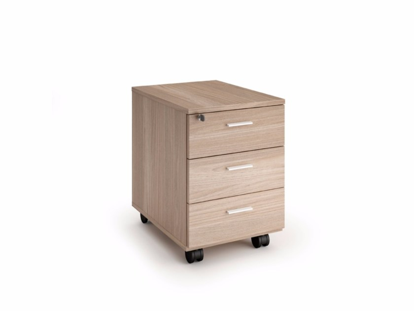 Office drawer unit with casters Office drawer unit - Quadrifoglio Sistemi d'Arredo