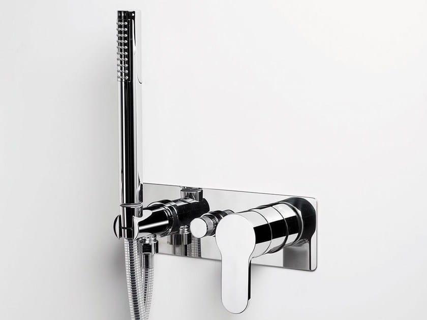 Wall-mounted bathtub tap with hand shower TAB | Bathtub mixer - RUBINETTERIE RITMONIO