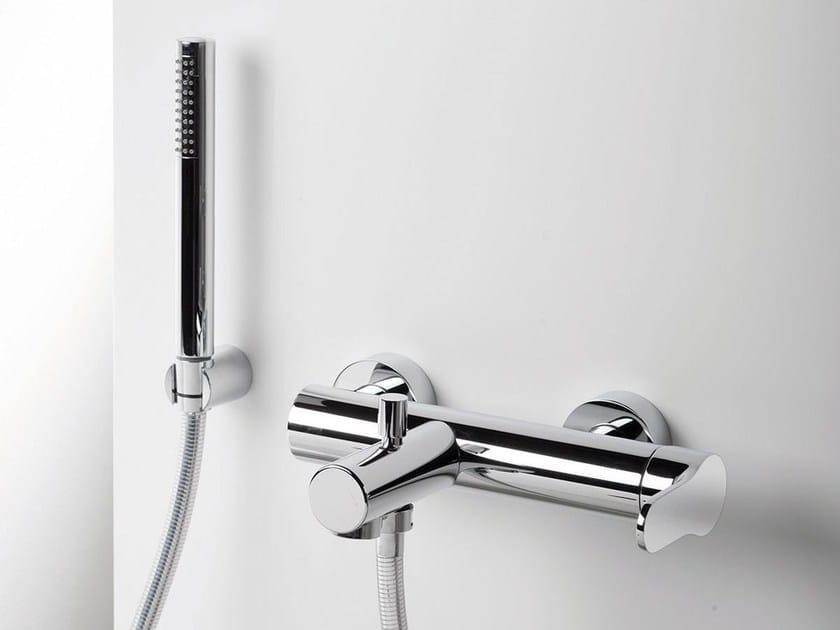 Wall-mounted bathtub mixer with hand shower TAB | Single handle bathtub mixer - RUBINETTERIE RITMONIO