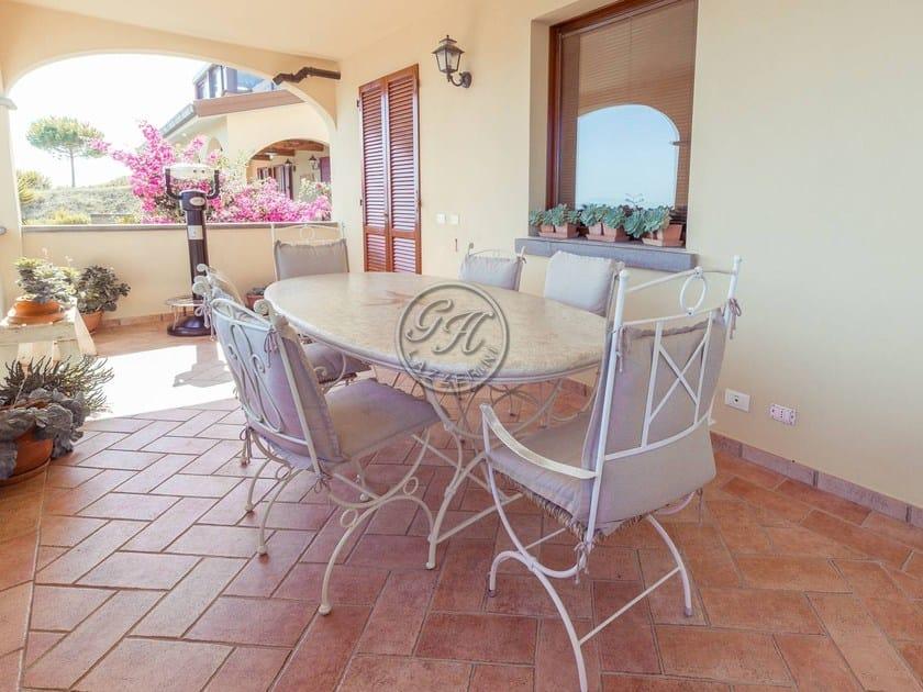 Tavolo da giardino ovale in pietra tavolo in pietra 10 gh lazzerini - Tavolo in pietra giardino ...