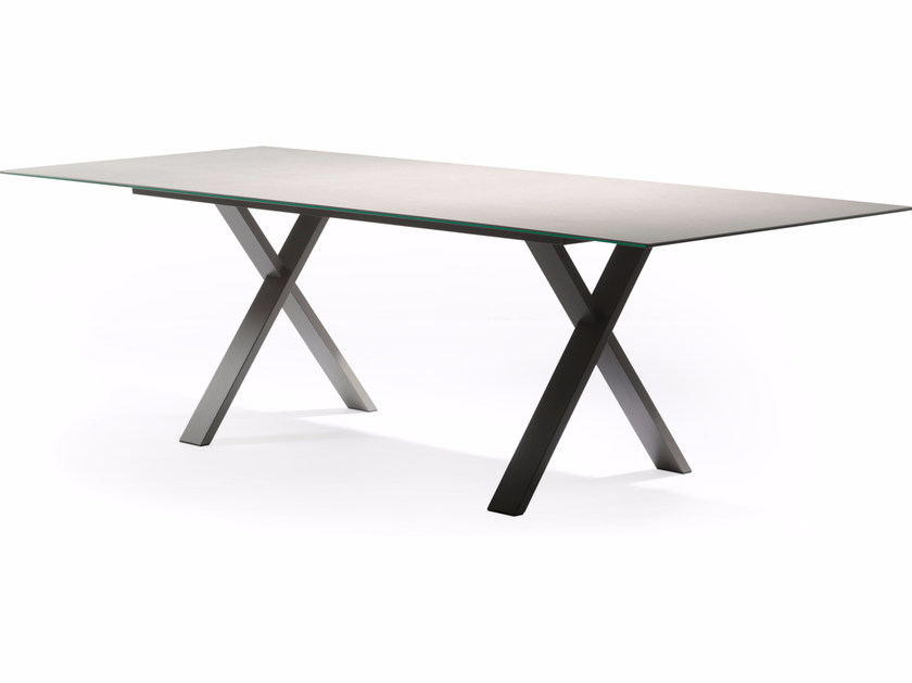 Rectangular Xeramica garden table CROSS | Table - Joli