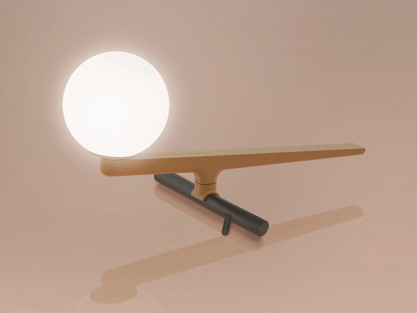 LED direct light brass table lamp YANZI | Table lamp by Artemide