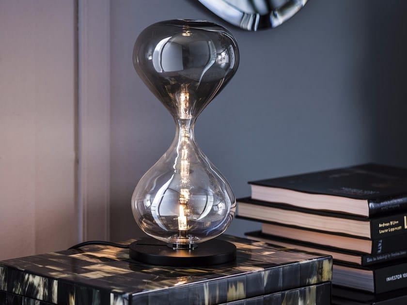 Crystal and steel table lamp SABLIER | Table lamp by Cattelan Italia