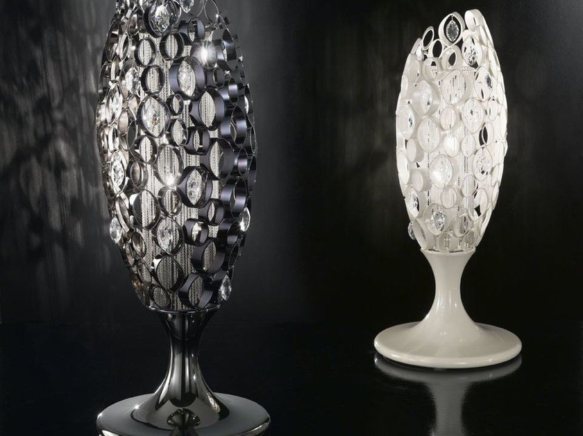 Metal table lamp with Swarovski® crystals CHRYSALIS | Table lamp - IDL EXPORT