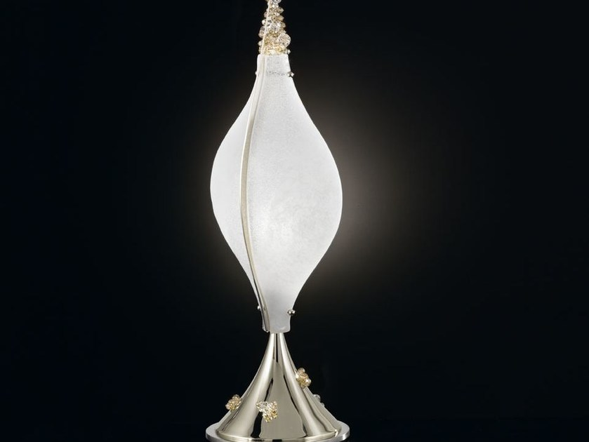 Murano glass table lamp with Swarovski® crystals CRYSTAL MOON | Table lamp - IDL EXPORT