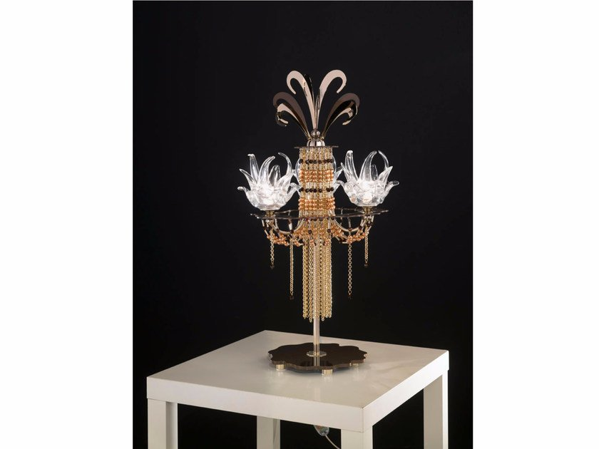 Table lamp with Swarovski crystals EXOTIC | Table lamp - IDL EXPORT