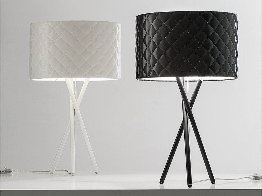 Imitation leather table lamp MARIÙ | Table lamp - LUCENTE - Gruppo Rostirolla