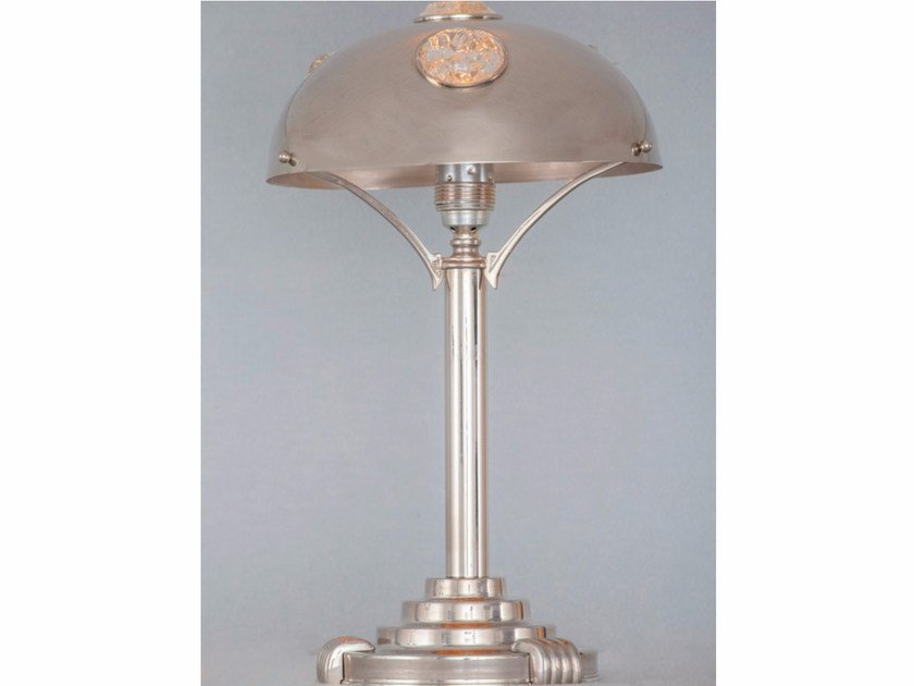 Direct light handmade nickel table lamp NEW YORK I | Table lamp by Patinas Lighting