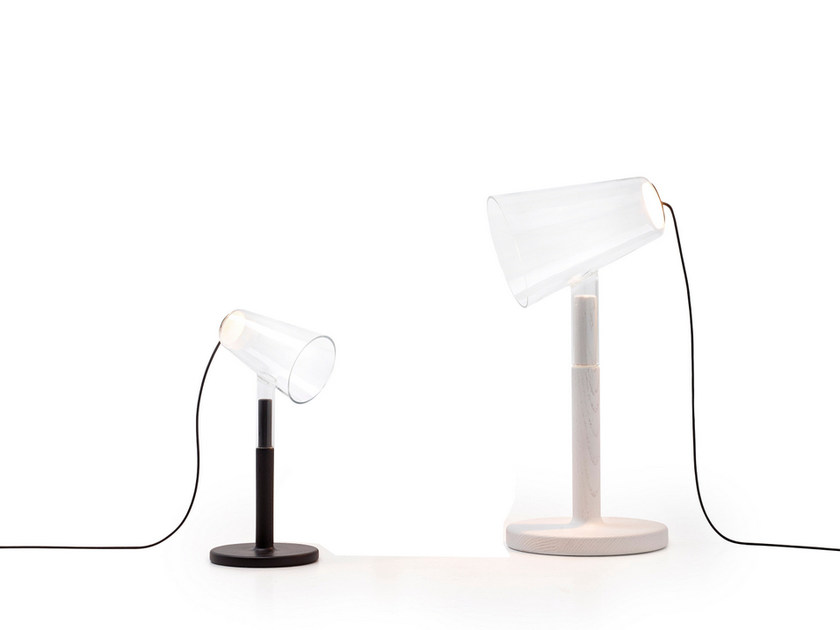 LED wood and glass table lamp THE SIBLINGS | Table lamp by PER/USE