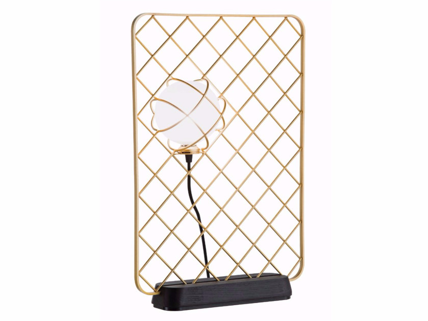 Halogen glass and steel table lamp LIGHT CATCHER | Table lamp - ROCHE BOBOIS