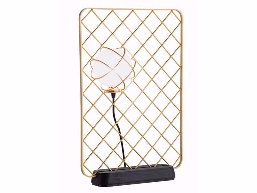 Lampada da tavolo alogena in acciaio e vetro LIGHT CATCHER | Lampada da tavolo - ROCHE BOBOIS