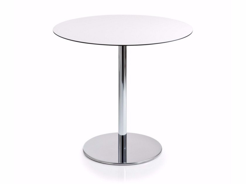 Round MDF table with 4-star base INTONDO | Round table - Luxy