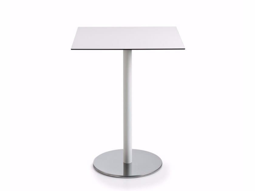 Square laminate table with 4-star base INTONDO   Square table - Luxy