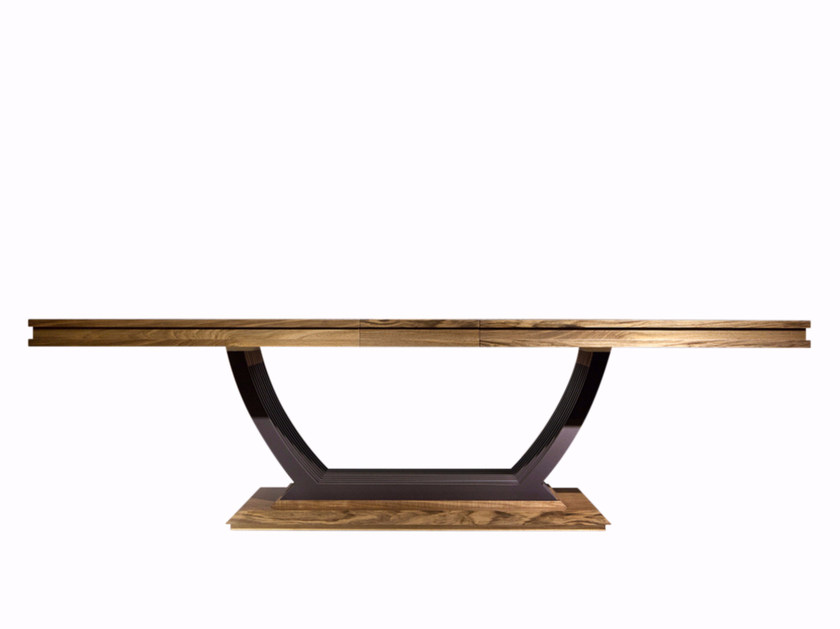 Rectangular wooden dining table CHOCOLATE | Table by Mobi