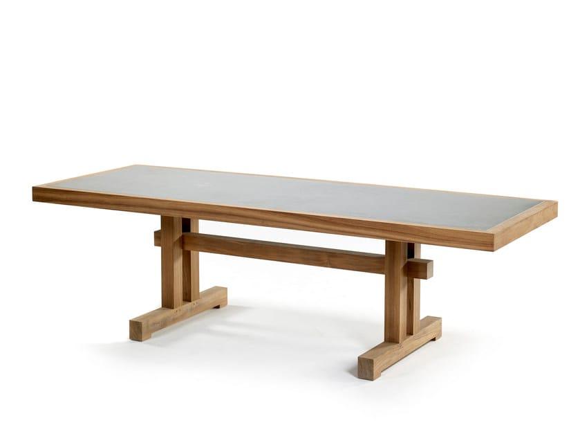 Rectangular ceramic table NARA | Table - ROYAL BOTANIA