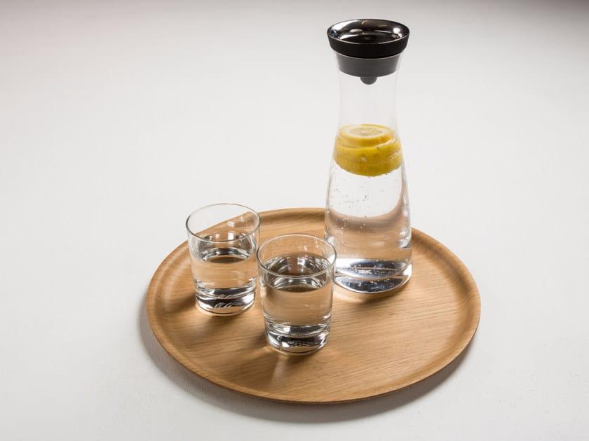 Round oak tray TABLETT | Oak tray by conmoto