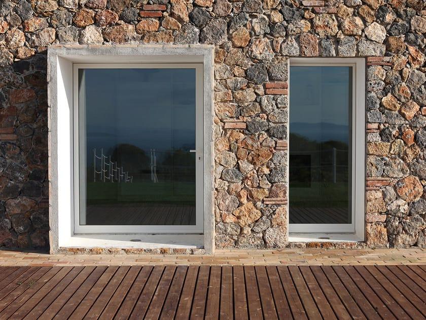 Finestra a battente con doppio vetro in acciaio tabs finestra a battente palladio - Costo vetro finestra ...