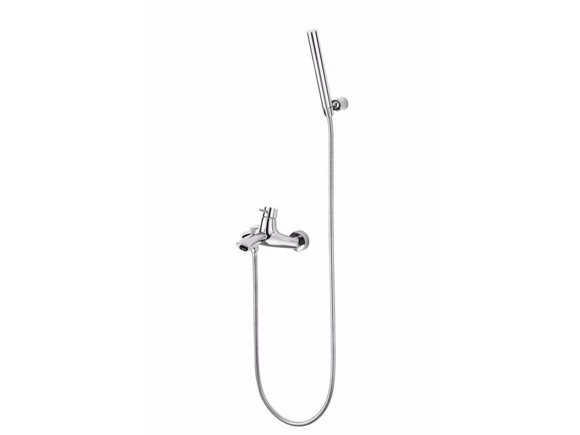 Wall-mounted single handle bathtub mixer with hand shower TAI CHI   Bathtub mixer by JUSTIME