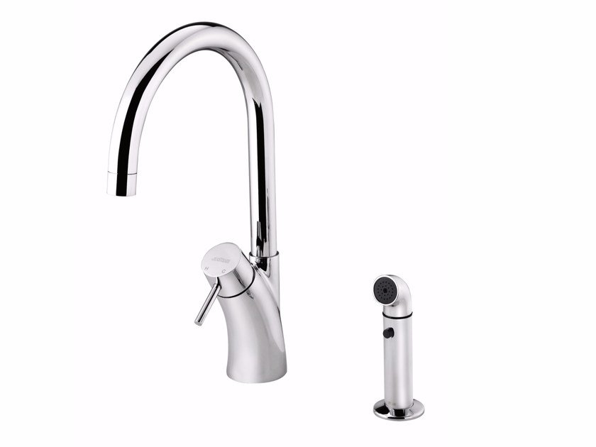 Countertop single handle kitchen mixer tap with pull out spray TAI CHI | Kitchen mixer tap with pull out spray - JUSTIME