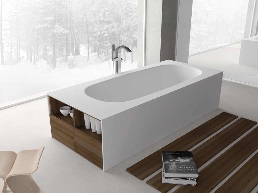 Freestanding rectangular bathtub TAKE - Flora Style