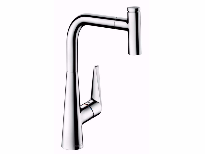 Countertop kitchen mixer tap with pull out spray TALIS SELECT | Kitchen mixer tap with pull out spray - HANSGROHE