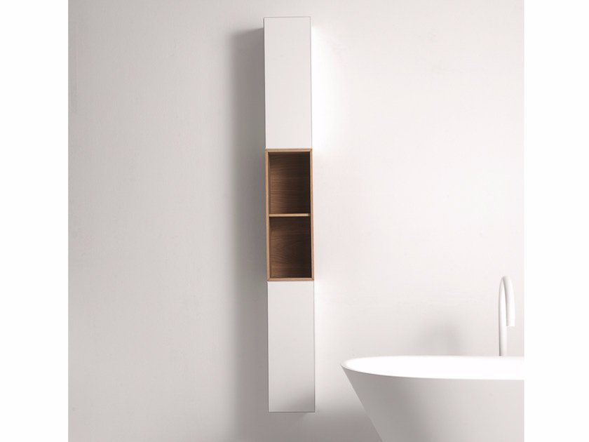 Tall single bathroom cabinet with doors QUATTRO.ZERO   Tall bathroom cabinet - FALPER