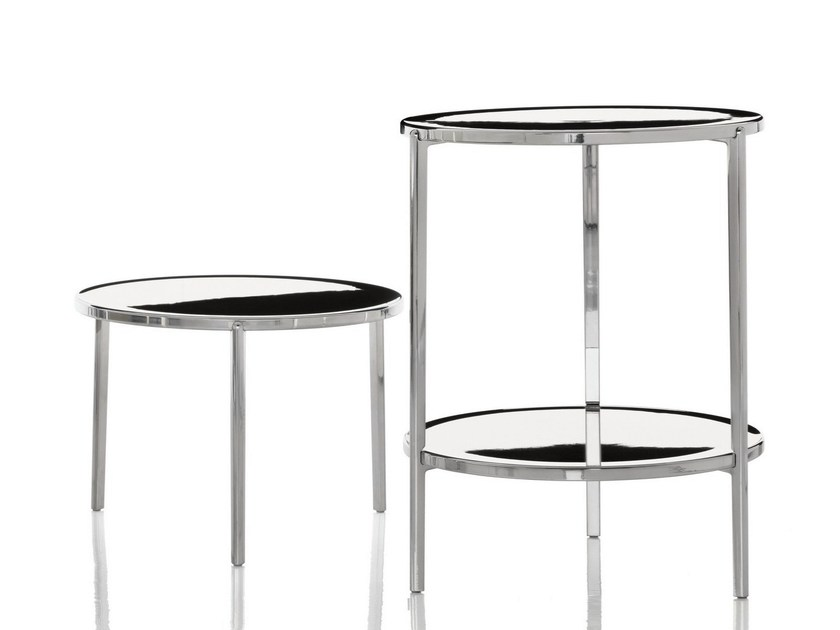 Low round aluminium coffee table TAMBOUR | Coffee table - Magis