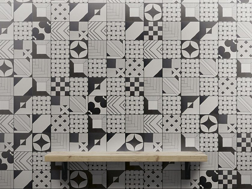 Indoor glazed stoneware wall tiles TANGLE | Wall tiles - ORNAMENTA