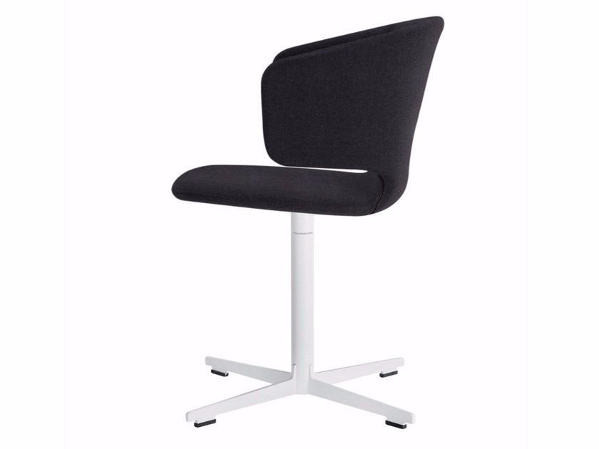 Swivel chair with 4-spoke base with armrests TAORMINA CROSS - 563 - Alias