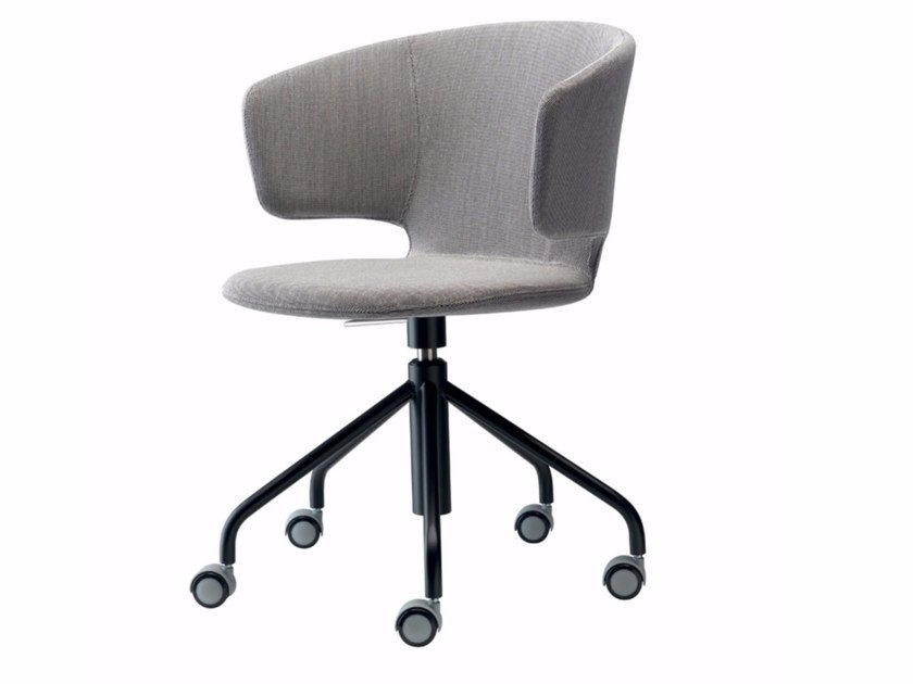 Swivel height-adjustable chair with casters TAORMINA STUDIO - 511 by Alias