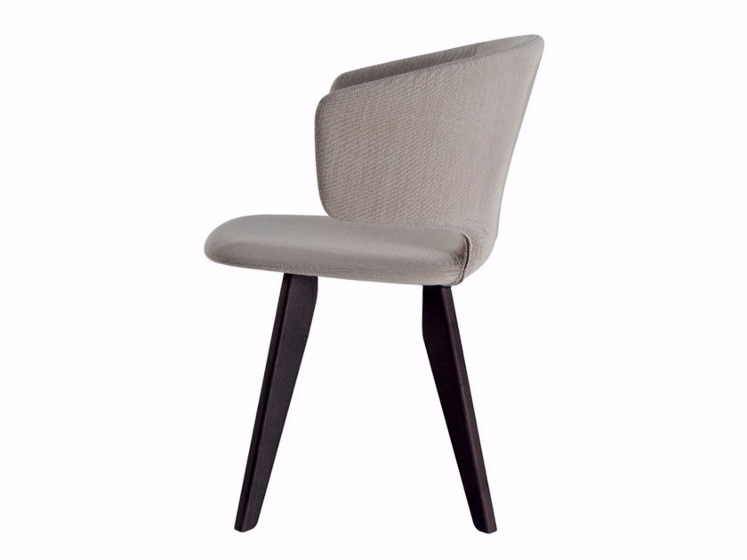 Chair with removable cover with armrests TAORMINA WOOD - 565 - Alias