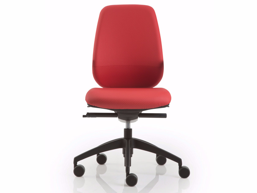 Task chair with 5-Spoke base with casters PRATICA | Task chair - Luxy