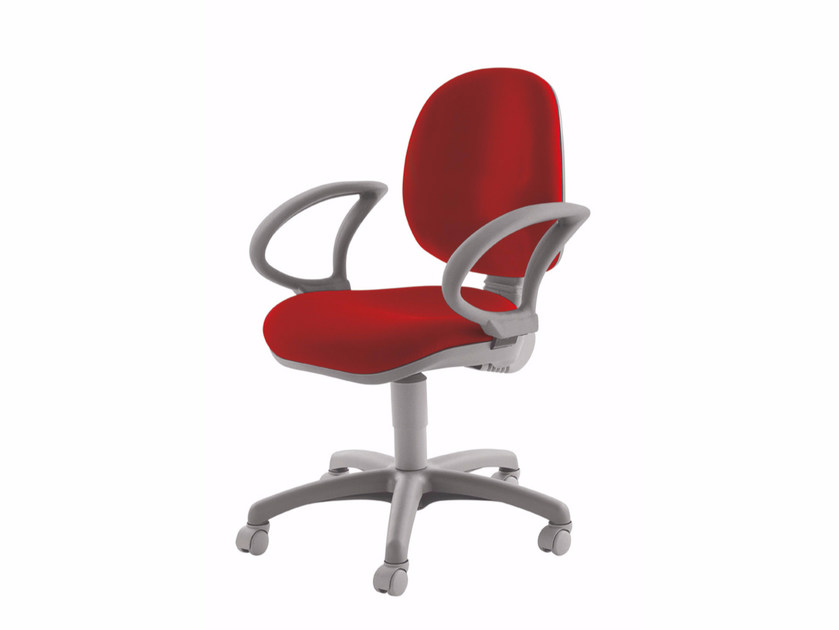 Height-adjustable task chair with 5-Spoke base with casters WING | Task chair - Luxy